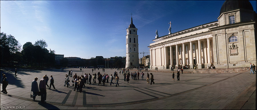Cathedral Square in Vilnius
