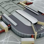 Vilnius International airport with hotel