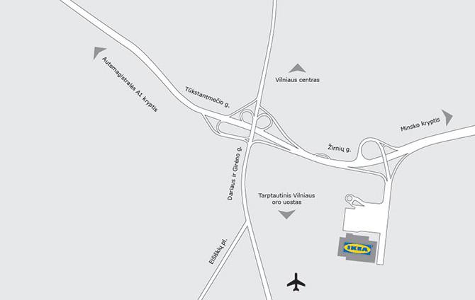 IKEA Vilnius - map address bus telephone & useful info