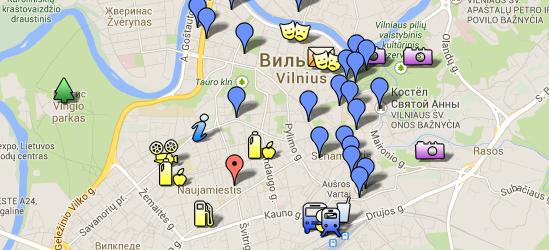 Расположение отеля Vilnius City Hotel