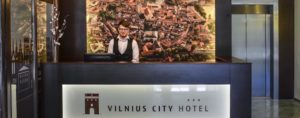 Vilnius City Hotel's reception